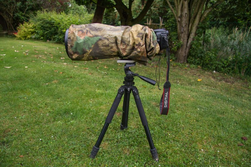 Wildlife watching supplies All in one camera & lens cover – Reversible review