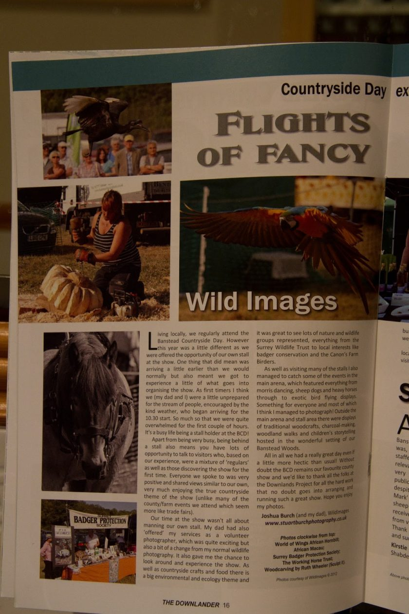 My pics in the Surrey downlander mag !